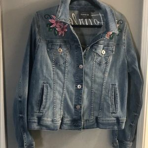 PLUS SIZE FEARLESS JEAN JACKET